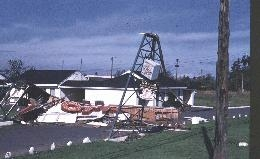Damage from Columbus Day Storm