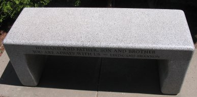 Bench facing the Bruce Lee grave