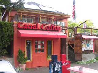 The Front of Canal Street Coffee in Fremont, WA