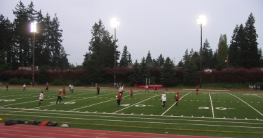 A soccer field in Seattle