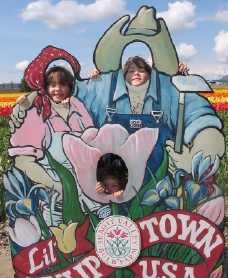 Having fun at the Seattle Tulip Festival