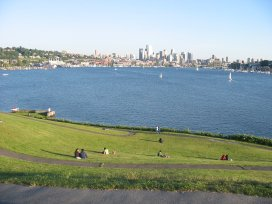 View of Lake Union from Gasworks Park