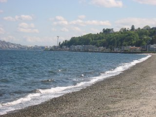 La Playa Alki en Seattle