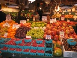 Fruit and vegetables at Pike Place