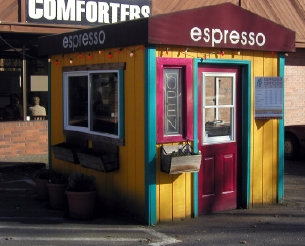 A small coffee shop in Seattle