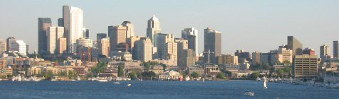A gorgeous view of the Seattle area skyline.