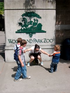 A tiring day after hanging out at the Woodland Park Zoo