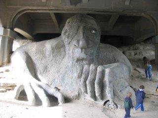 Fremont troll under the bridge