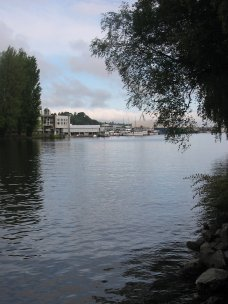 View of Lake Washington Ship Canal from Canal Street Coffee